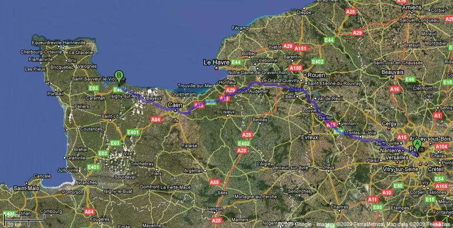 Click to View Route Map from Paris to Montmirel