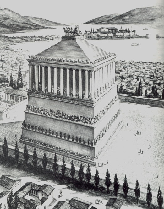of the Mausoleum of Halicarnassus, one of the seven wonders of the ancient