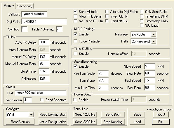How to Configure Your APRS Tracker [Archive] - VAF Forums