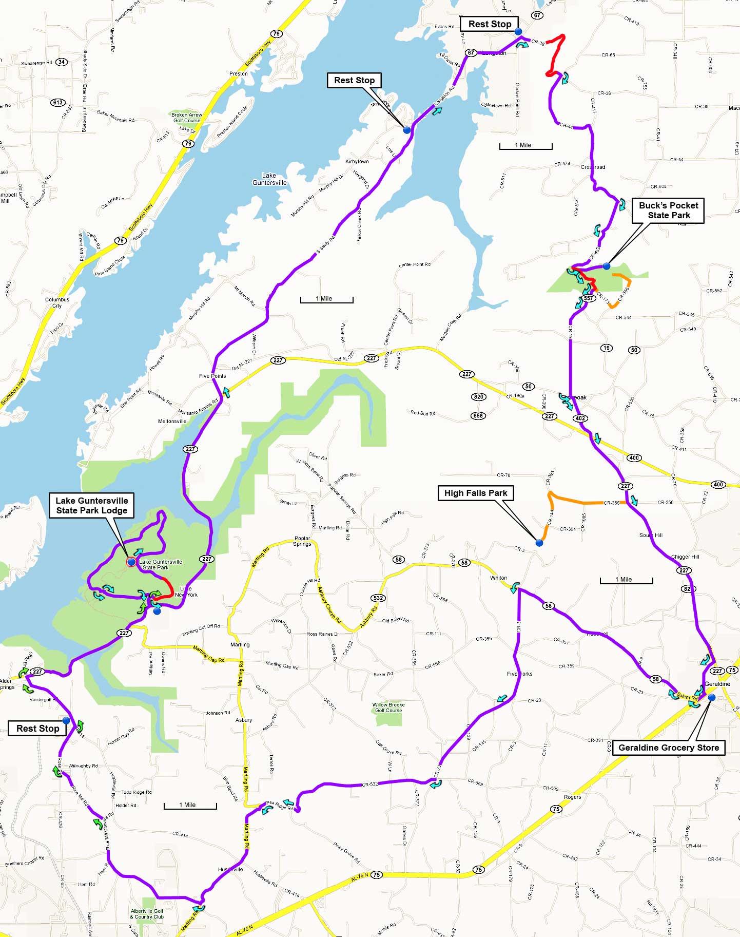 map of lake guntersville Guntersville Parks And Mountains Metric map of lake guntersville