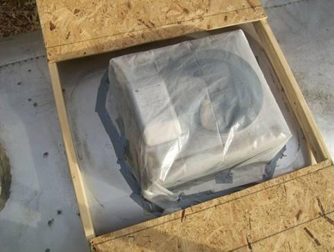 Airstream Air Conditioner Rainwater Leak